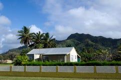 殖民地家在拉罗通加库克群岛 库存照片