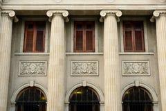 殖民地建筑学在圣地亚哥de los Caballeros 免版税库存图片