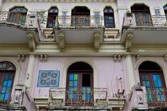 殖民地建筑学在圣地亚哥de los Caballeros 免版税库存照片