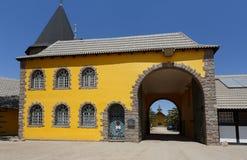 殖民地德国建筑学在斯瓦科普蒙德 免版税库存图片