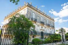 殖民地房子在梅里达,墨西哥 免版税库存图片