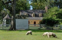 殖民地房子威廉斯堡 免版税库存照片