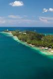 殖民地海滩在拿骚,巴哈马 免版税库存照片
