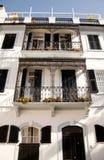 殖民地直布罗陀住宅 库存照片