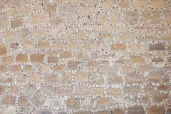 殖民地砖墙 免版税库存图片