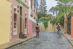 殖民地街道Las Penas在瓜亚基尔厄瓜多尔 图库摄影