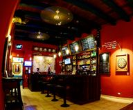 殖民地酒吧 库存照片