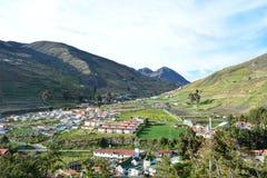 殖民地镇在梅里达,委内瑞拉 库存照片