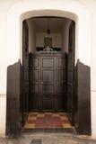 殖民地建筑细节在Giron哥伦比亚 免版税库存图片