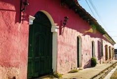 殖民地arcitecture在萨尔瓦多 免版税图库摄影