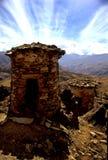 殡葬秘鲁火葬用的柴堆 免版税库存照片