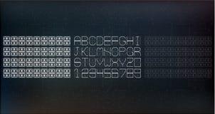 段字体 一个现代设计 也corel凹道例证向量 EPS10 库存照片