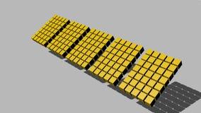 段组成由立方体移动空间的,阴影,改变的颜色,徒升 影视素材