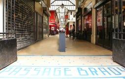 段落布兰蒂是其中一个著名巴黎人段落,法国 免版税库存照片