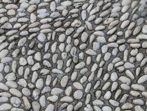 段落石小石渣走道背景 免版税库存照片