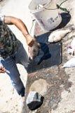 毁坏一条鱼在Camara de罗伯斯一个渔村在市丰沙尔附近和有某些最高的峭壁在世界上 库存照片