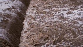 水毁坏路 影视素材