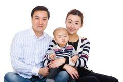 母亲、父亲和小儿子 免版税图库摄影