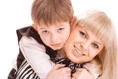 母亲儿子 免版税图库摄影
