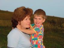 母亲儿子 免版税库存图片