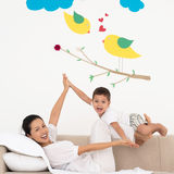 母亲和儿子 免版税图库摄影