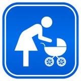 母亲和儿童符号 库存图片