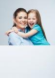 母亲和女儿容忍 有孩子女孩的女商人 Iso 图库摄影