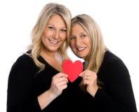 母亲和女儿爱 免版税库存照片