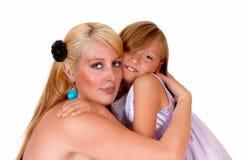 母亲和女儿特写镜头 库存照片