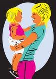 母亲和她的婴孩 免版税库存图片