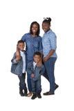 母亲和她的3个孩子 免版税图库摄影