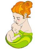 母亲和子项 皇族释放例证