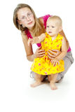 母亲和子项 免版税图库摄影