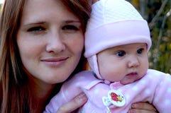 母亲和子项 库存图片