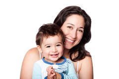 母亲和小小孩儿子 库存图片
