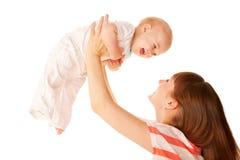母亲和婴孩。 免版税图库摄影