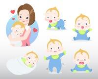 母亲和婴孩例证 库存照片