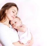 母亲和婴孩 库存图片
