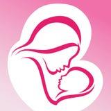 母亲和婴孩 向量例证