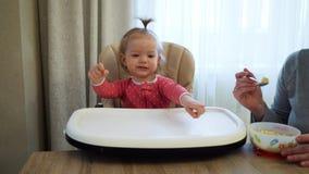 母亲喂养子项 愉快的系列 股票视频