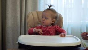 母亲喂养子项 愉快的系列 股票录像