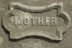 母亲墓碑细节混凝土 库存图片