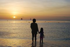 母亲女儿 免版税图库摄影