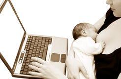 母亲年轻人 免版税库存图片