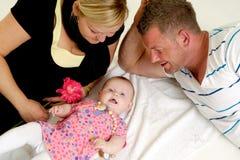 母亲父亲和婴孩 免版税库存图片
