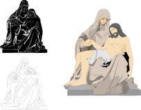 母亲玛丽和耶稣基督 图库摄影