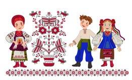 母亲的祝福婚姻的 乌克兰的礼拜式 免版税库存图片