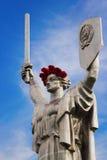 母亲祖国雕象 免版税库存照片