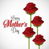 母亲节卡片设计,传染媒介例证 免版税库存图片