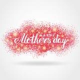 母亲节桃红色闪烁背景 免版税库存照片